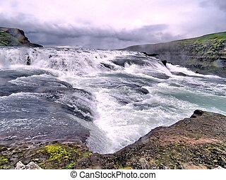 View of Gullfoss waterfall