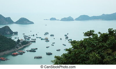View of Ha Long Bay from the observation deck