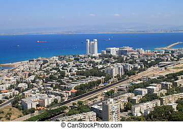 View of Haifa from Mount Carmel, Israel