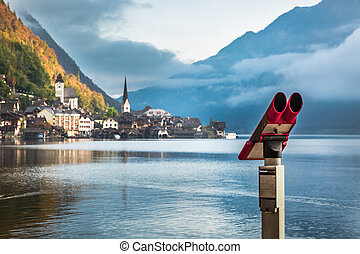 View of Hallstatt in the Alps