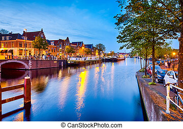 View of Harlem Sight on Spaarne River On The Background At ...