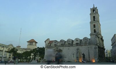 View of Havana, Cuba with church