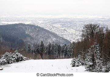 View of Heidelberg in Winter, Germany