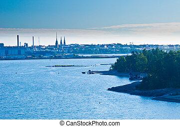 Helsinki - view of Helsinki from the baltic sea