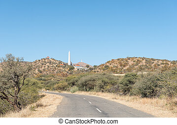 View of Heroes Acre to the south of Windhoek