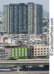 view of high building in Bangkok, Thailand