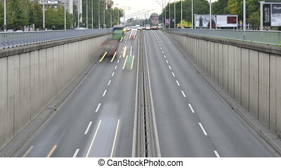 View of highway with overpass in Zagreb