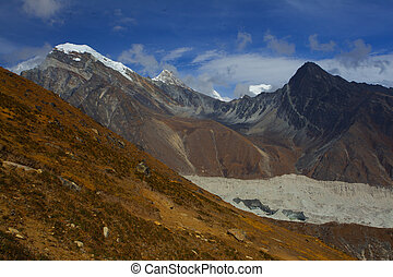 View of Himalayan from Gokyo Ri mountain, Nepal, Everest Area