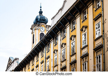 view of historic architectural in Budapest, Hungary, Europe