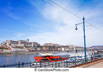 historic architectural in Budapest, Hungary, Europ - view of...