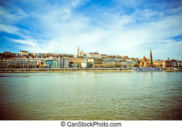 view of historic architectural in Budapest, Hungary