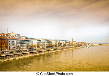 historic architectural in Budapest, Hungary, Europ