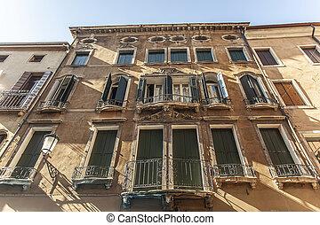 Historic building in Padua in Italy