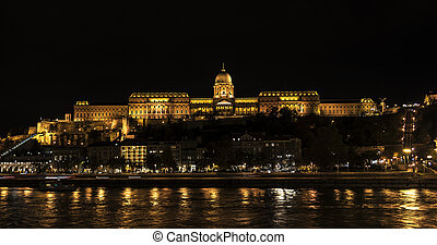View of historic Royal Palace in Budapest, Hungary.