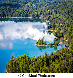 View of Holland Lake in Montana