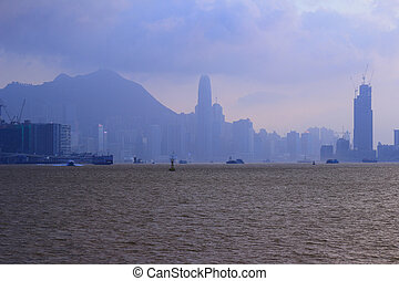 View of Hong Kong at victoria Harbour