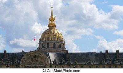 """view of hotel national des invalides, napoleon tomb, paris,..."