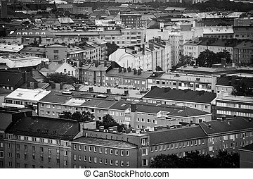 Helsinki, Finland - View of houses and building in Helsinki...