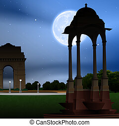 view of india gate, new delhi, india