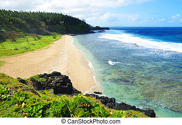 Gris Gris beach on south of tropical island Mauritius.