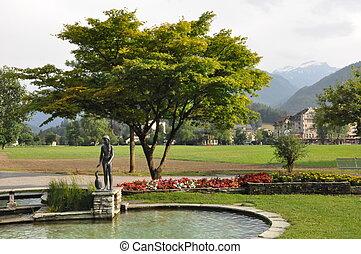 View of Interlaken in Switzerland