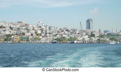 View of Istanbul landscape and Bosphorus
