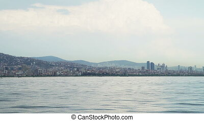 View of Istanbul landscape and Bosphorus - View of of...
