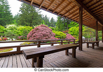 View of Japanese Garden from the Veranda
