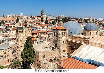 View of Jerusalem Old City from above.