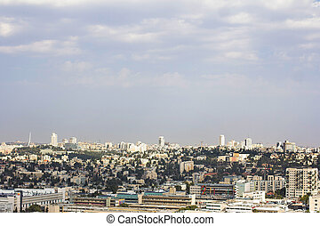View of Jerusalem. Panorama, beautiful view of the old city