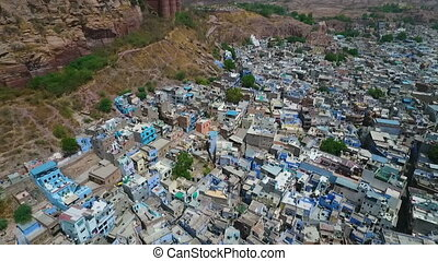 View of Jodhpur, Rajasthan in India 2. - Drone, exterior,...