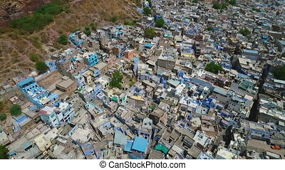 View of Jodhpur, Rajasthan in India. - Drone, exterior,...