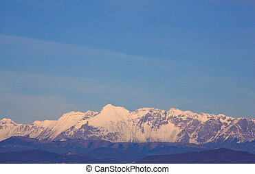 Julian Alps - View of Julian Alps covered by snow