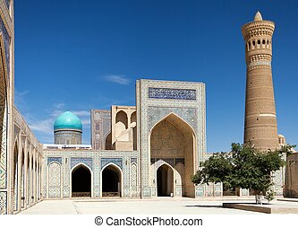 View of Kalon mosque and minaret - Bukhara - Uzbekistan
