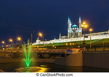 Kazan Kremlin - view of Kazan Kremlin with Qolsarif Mosque, ...
