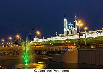 Kazan Kremlin - view of Kazan Kremlin with Qolsarif Mosque, ...