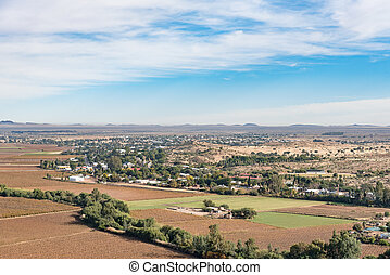 View of Keimoes and vineyards as seen from on Tierberg