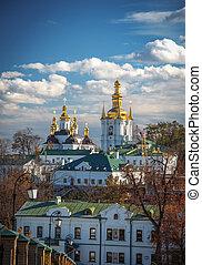 View of Kiev Pechersk Lavra, the orthodox monastery included...