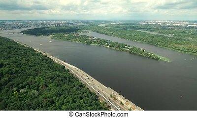 view of Kiev, Ukraine, aerial
