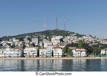 View of Kinaliada island from the Sea of Marmara, near...
