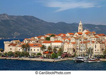 View of Korcula old town, Croatia