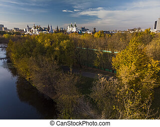 view of Kremlin in Izmailovo in Moscow, Russia