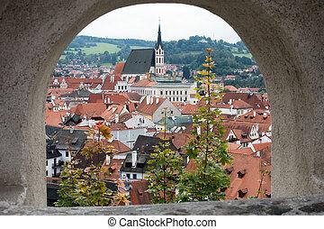 View of Krumlov from the Castle of Cesky Krumlov
