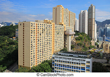 view of Kwai Fong, Tsuen Wan district hk - view of Kwai...