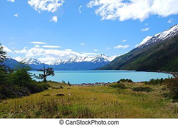 Los Glaciares National Park - View of Lago Argentino in Los...