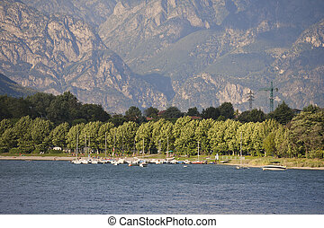 Lake Como in a Summer Day