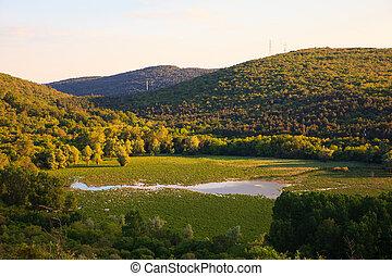 View of lake Doberdò - View of Lake Doberdo' sinkhole in the...