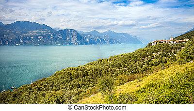 View of Lake Garda in Italy