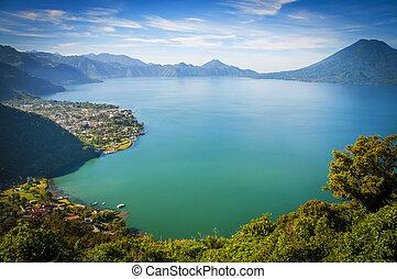 View of lake in Guatemala