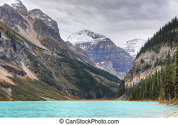 View of Lake Louise near Banff, Alberta